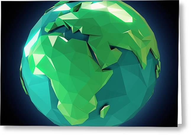 Planet Earth Greeting Card by Andrzej Wojcicki
