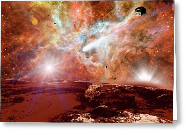 Planet Forming In A Nebula Greeting Card