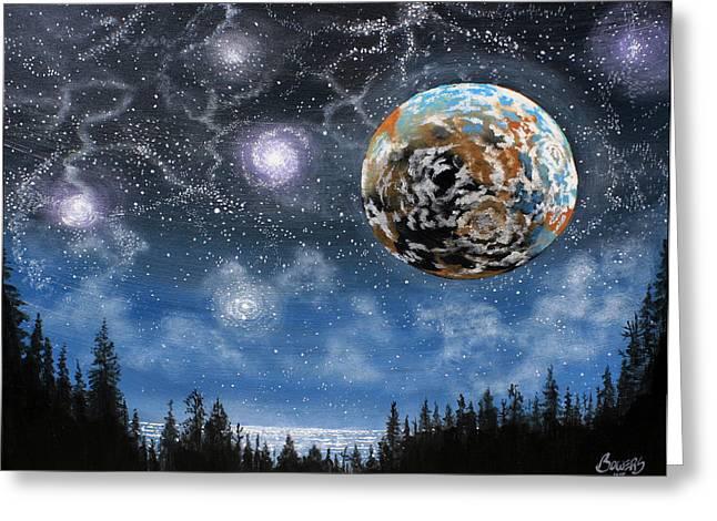 Planet X Niburu Greeting Card by Jim Bowers