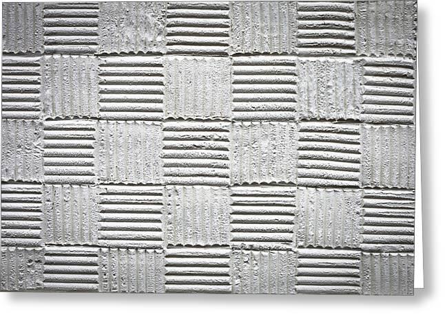 Plaster Pattern Greeting Card by Tom Gowanlock