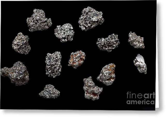 Platinum Nuggets Greeting Card by Dirk Wiersma