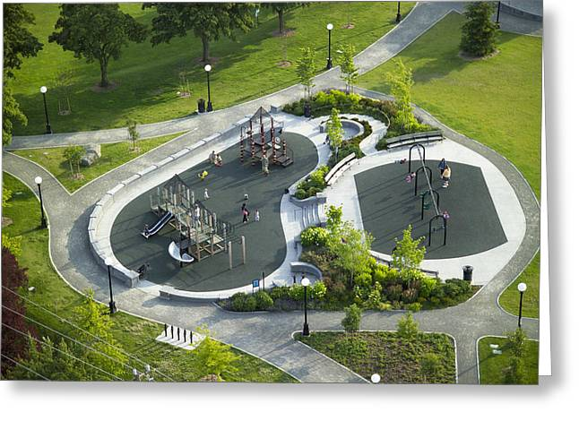 Playground At Cal Anderson Park Greeting Card