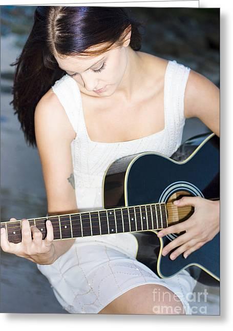 Playing Guitar Greeting Card