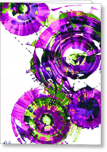 Playing In The Wind 1000.042312 - Popart-3 Greeting Card by Kris Haas
