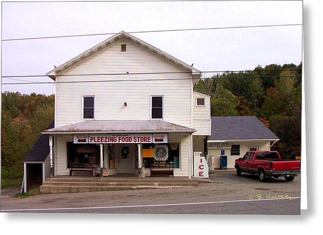 Greeting Card featuring the photograph Pleezing Authorized Food Store by R B Harper