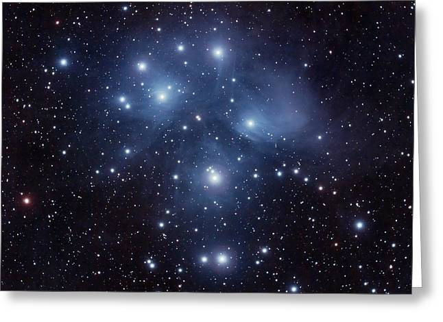 Pleiades M45 Greeting Card