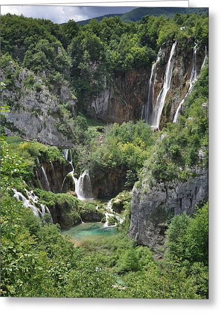 Greeting Card featuring the photograph Plitvice Lakes National Park by Laura Melis