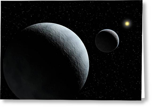 Pluto-charon System Greeting Card