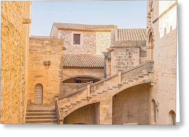 Poblet Monastery Near Barcelona In Catalonia Spain Greeting Card