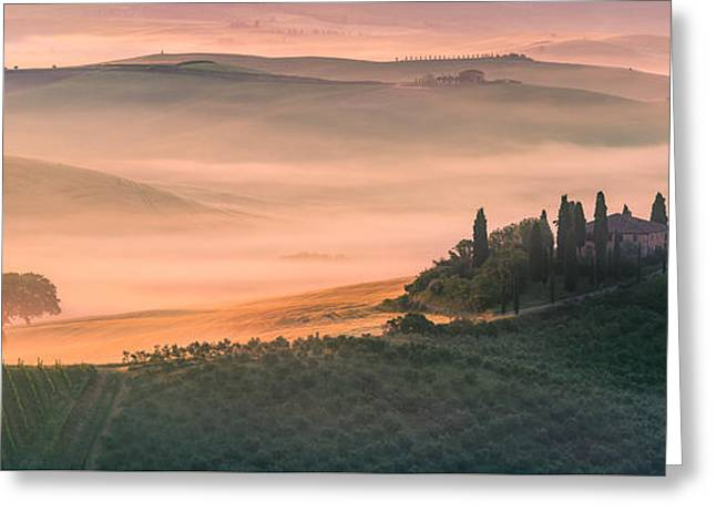 Podere Belvedere - Tuscany - Italy Greeting Card by Henk Meijer Photography