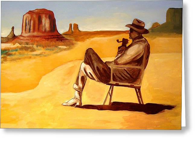 Poet In The Desert Greeting Card