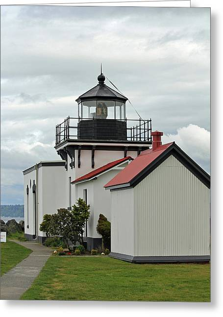 Greeting Card featuring the photograph Point No Point Lighthouse by E Faithe Lester