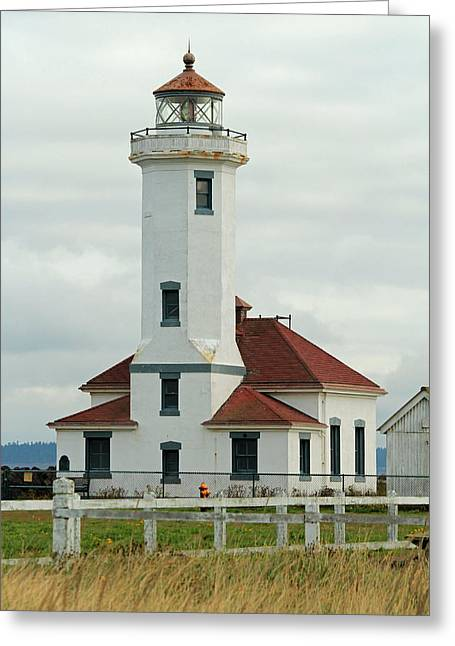 Greeting Card featuring the photograph Point Wilson Lighthouse by E Faithe Lester