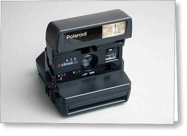 Polaroid Camera Greeting Card by Victor de Schwanberg
