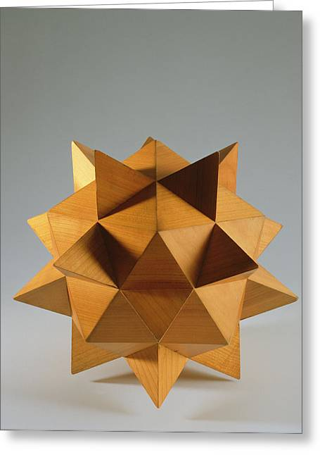 Polyhedron Wood Greeting Card by Italian School