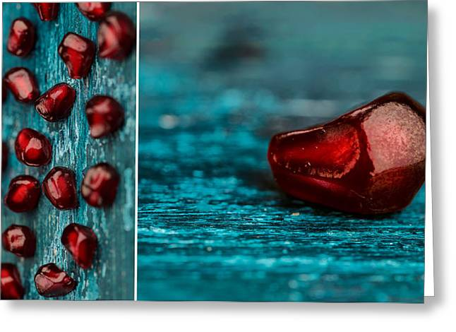 Pomegranate Collage Greeting Card