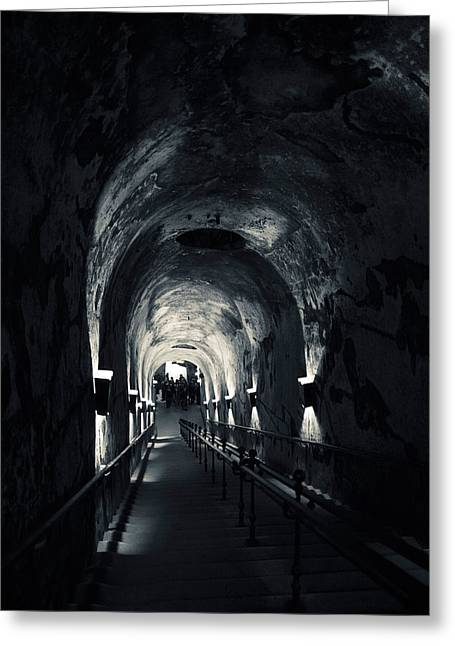 Pommery Champagne Winery Passageway Greeting Card by Panoramic Images