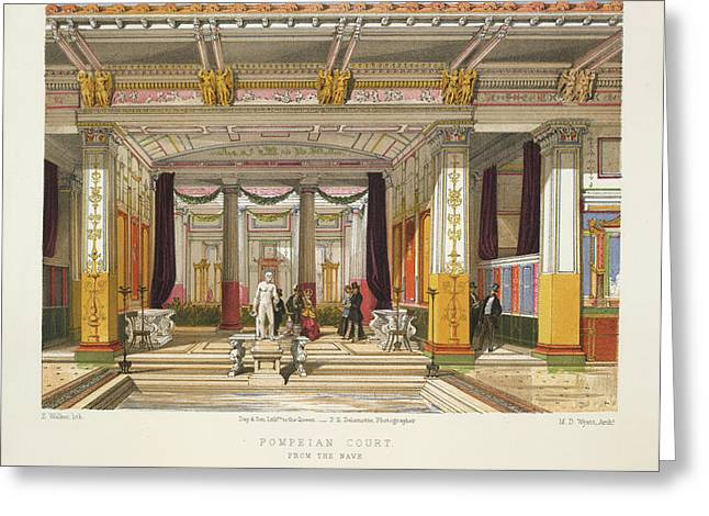 Pompeian Court Greeting Card by British Library
