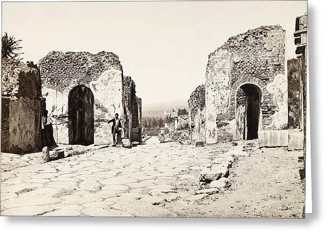 Pompeii Herculaneum Gate Greeting Card by Granger