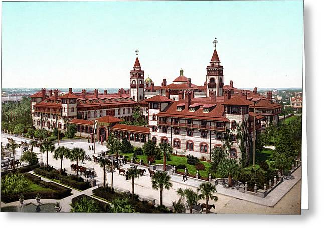Ponce De Le�n Hotel, C1902 Greeting Card