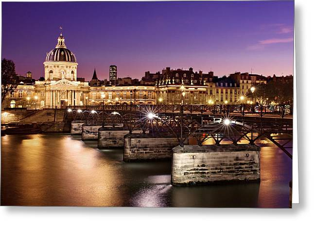 Pont Des Arts And Institut De France / Paris Greeting Card