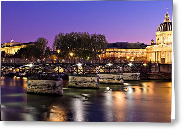 Pont Des Arts At Night / Paris Greeting Card