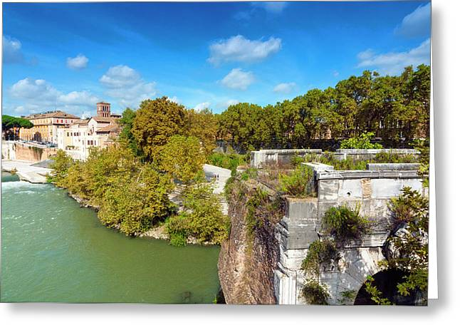 Ponte Emilio Today Called Ponte Rotto Greeting Card by Nico Tondini
