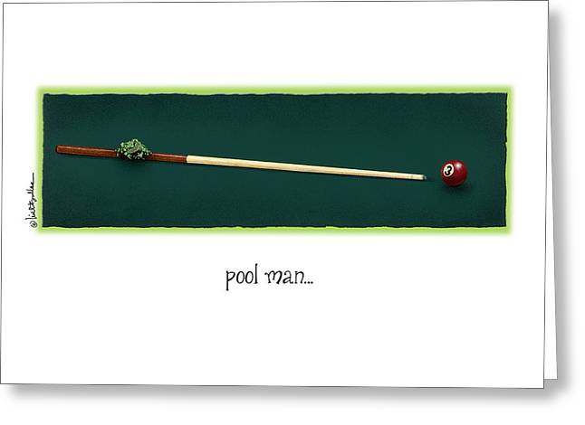 Pool Man... Greeting Card