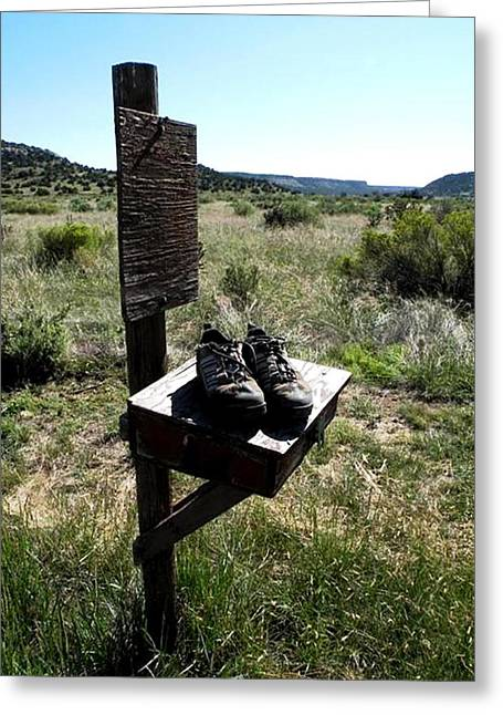Greeting Card featuring the photograph Poor Soles by Carlee Ojeda
