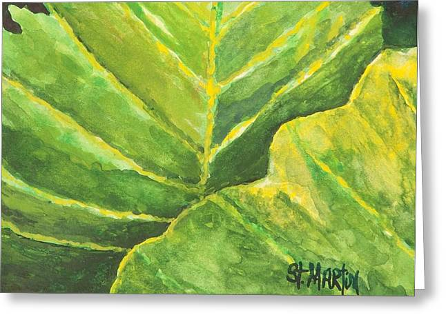 Pop Of Green Greeting Card by Annie St Martin