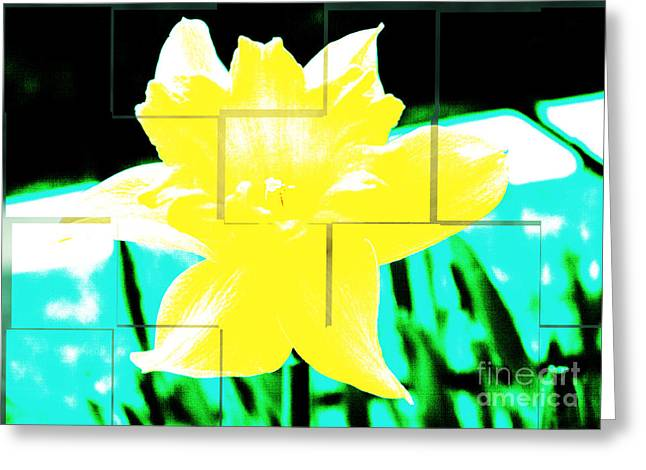 Pop Yellow Greeting Card by Arlene Carmel