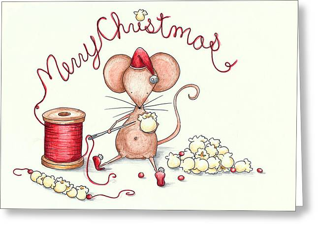 Popcorn Mouse Greeting Card by Sarah LoCascio