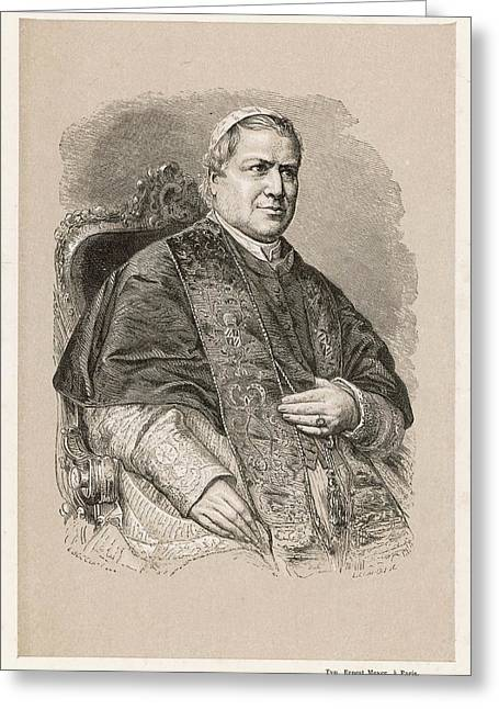 Pope Pius Ix (conde Giovanni Maria Greeting Card by Mary Evans Picture Library