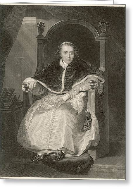 Pope Pius Vii (luigi Barnabo Greeting Card by Mary Evans Picture Library