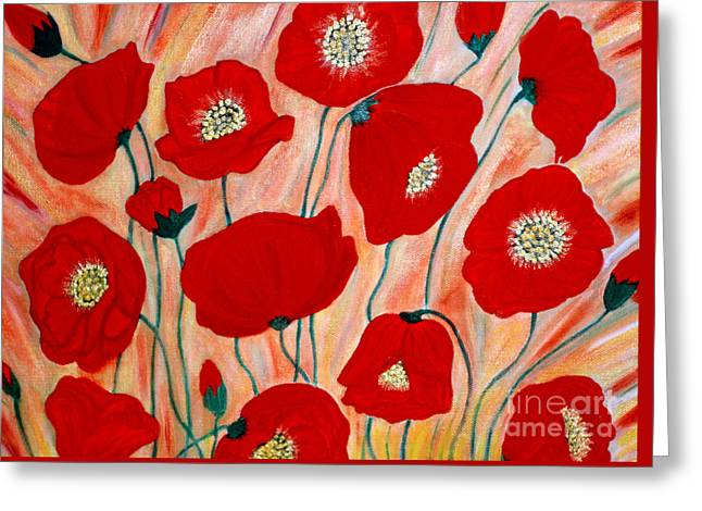 Poppies. Inspirations Collection. Greeting Card