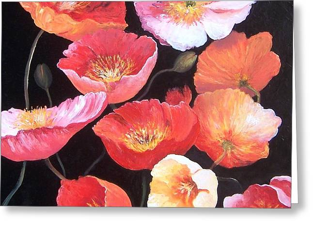 Poppies Greeting Card by Jan Matson