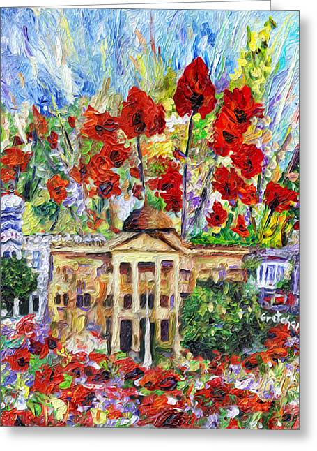 Poppy Days Are Here Again Greeting Card by GretchenArt FineArt