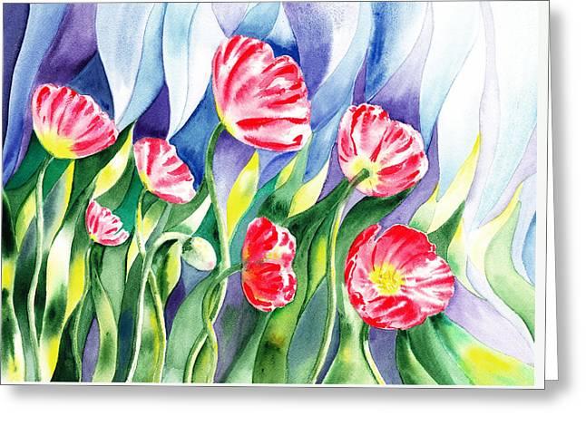 Poppy Field Greeting Card by Irina Sztukowski