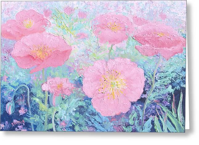 Poppy Garden Greeting Card by Jan Matson