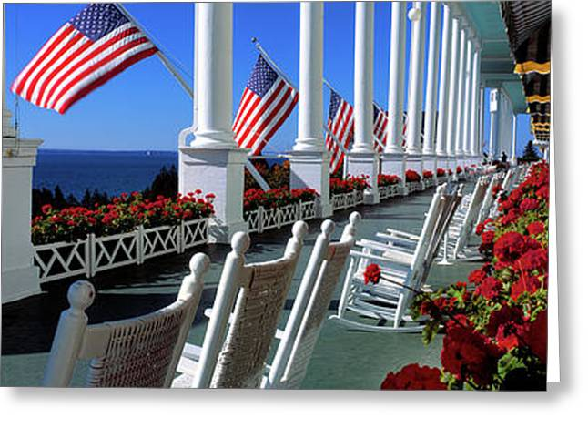 Porch Of The Grand Hotel, Mackinac Greeting Card