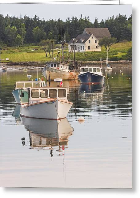 Port Clyde Maine Boats And Harbor Greeting Card