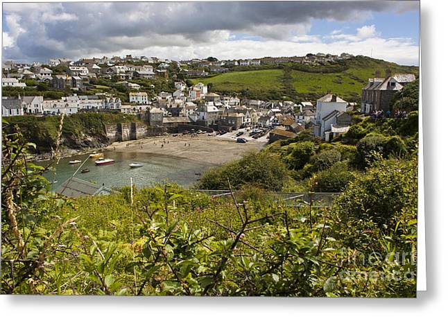 Port Issac Cornwall Greeting Card