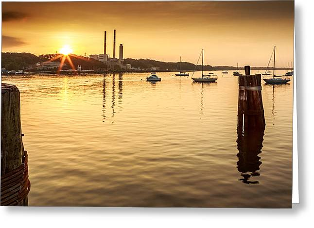 Port Jefferson Greeting Card by Mihai Andritoiu