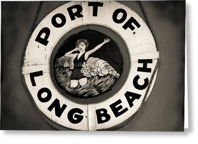 Port Of Long Beach Life Saver Vin By Denise Dube Greeting Card
