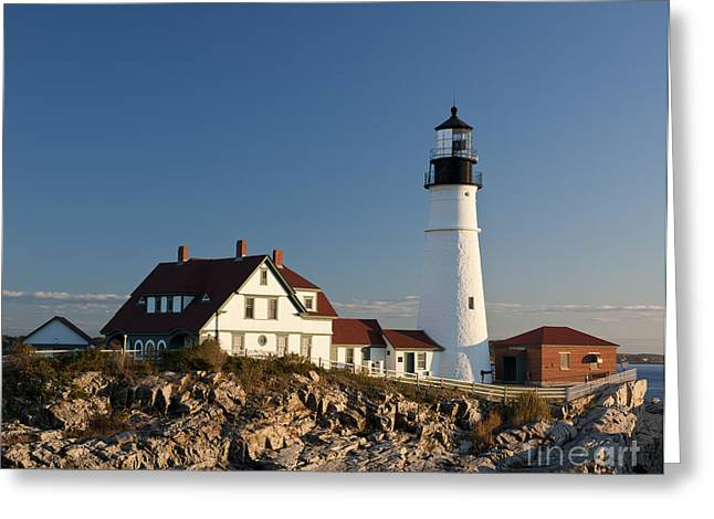 Portland Head Lighthouse Greeting Card by John Shaw