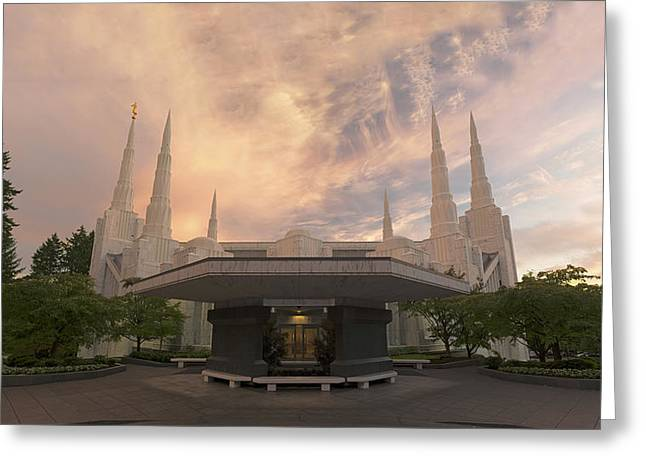 Portland Temple Greeting Card