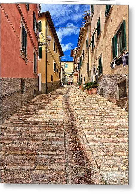 Portoferraio - Isle Of Elba Greeting Card by Antonio Scarpi