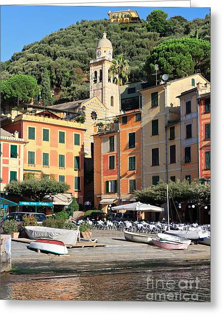Portofino Greeting Card by Antonio Scarpi