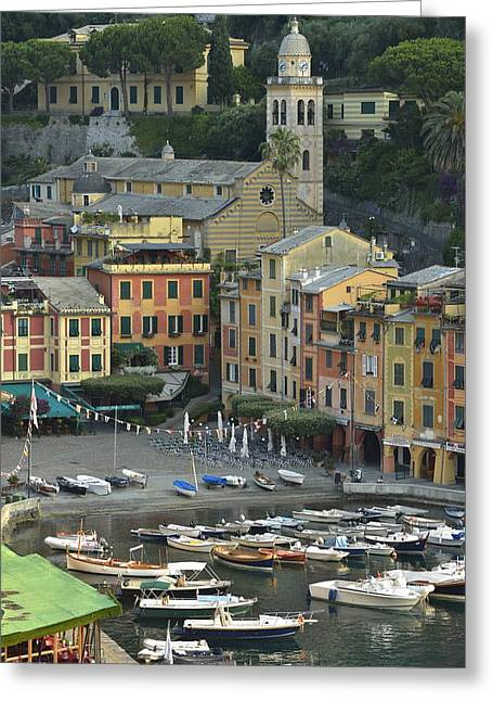 Portofino Greeting Card by Christian Heeb