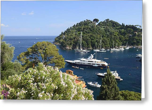 Portofino Coast Greeting Card by Christian Heeb